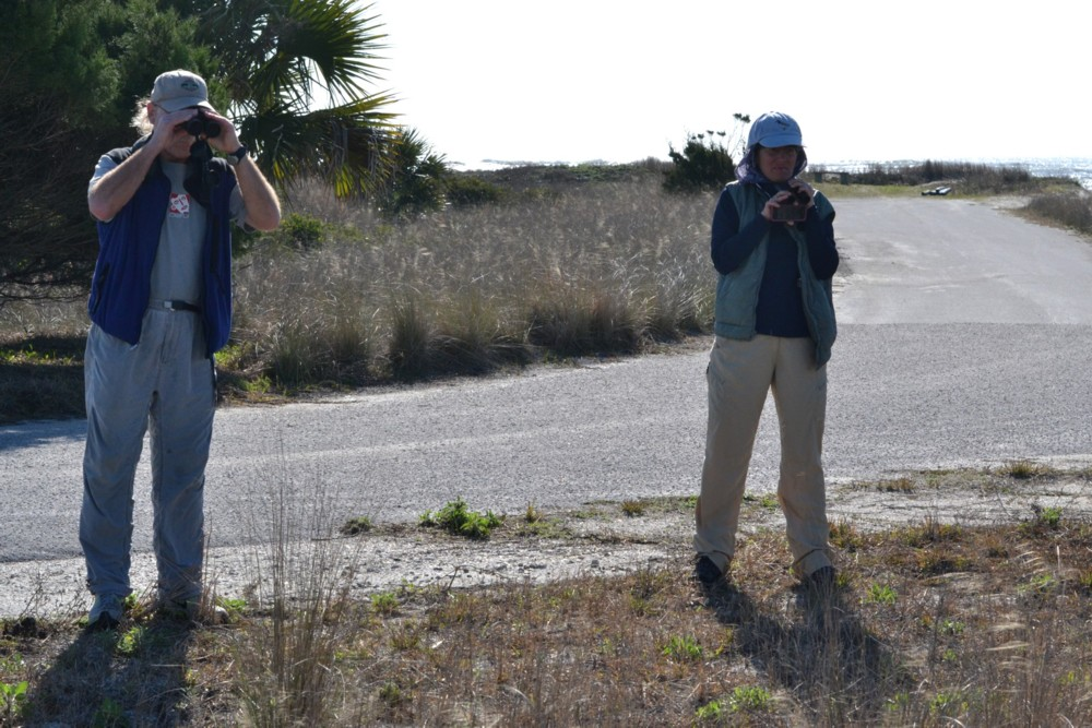 Gary and Sharon looking for Grasshopper Sparrow